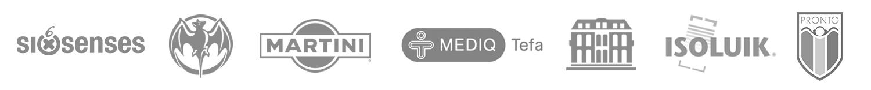 logo's opdrachtgevers